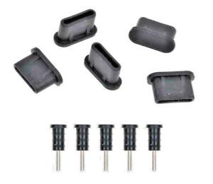 5-SET Dust Plug Stopper USB Type-C + Jack Flat Head for ASUS ROG Phone II
