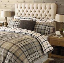 100%25 Brushed Cotton Flannelette Quilt Duvet Cover & Pillowcase Bedding Bed Sets