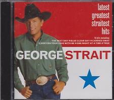 GEORGE STRAIT - LATEST GREATEST STRAITEST HITS - CD - NEW -