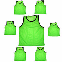 SET of 6 SCRIMMAGE VESTS PINNIES SOCCER YOUTH GREEN ~ NEW!