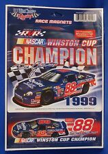 DALE JARRETT 1999 WINSTON CUP CHAMPION RACE MAGNETS TWO PACK NEW IN PACKAGE