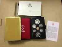 1976 Canada Prestige 7 coin Double Dollar set, COA with silver dollar