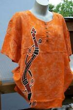 T Shirt Bluse handbemalte Unikate wie Seide Aborigines AUSTRALIEN Schlange