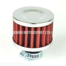 Small Oil Breather Filter for Crank Case, Catch Can Tank (Red) 12mm