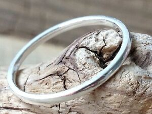 Beautiful Fine 99.9 Silver 1.5mm Handmade Stacking Ring