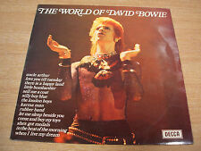 the world of david bowie 1973  uk issue early  vinyl compilation lp  blue labels
