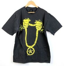 Men's OBEY Gold Chain Rope Black T-Shirt - Size XL