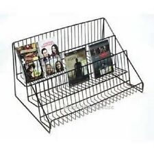 "Literature Rack 3 Tier Wire Counter Top Display 12 ¾"" H x 23 ½ x 14 Brochures"