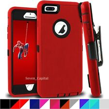 For Apple iPhone 6 6s Plus Shockproof Defender Case Cover With Holster Belt Clip