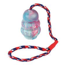 Hundespielzeug - Jumper - Schleuderball - Vollgummi 8,5 cm - mit 30 cm Seil