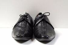 TRUE VINTAGE 70s Herren Schnürer UK 9,5 Schuhe Lace up schwarz Halbschuhe Loafer