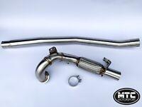 """MTC MOTORSPORT GOLF R MK7 MK7.5 DECAT DOWNPIPE STAINLESS STEEL EXHAUST PIPE 3"""""""