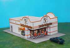 Little Caligulas Pizza Palace Restaurant N Scale Building DIY Paper Cutout Kit