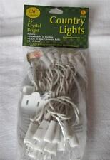 White Cord Light String ~ Clear bulb ~ White Cord Light Strand ~ 35 bulbs