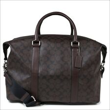 Coach Voyager Signature Mahogany/Brown Travel Duffle Bag F54776 Msrp $595.00
