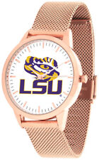 LSU Louisiana State Tigers Women Mesh Statement Rose Pink Watch & Wallet