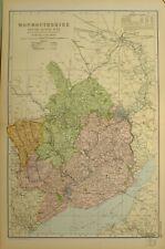 1902 MAP MONMOUTHSHIRE RIVER WYE NEWPORT CHEPSTOW ABERGAVENNY PONTYPOOL
