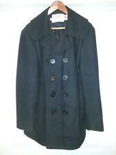 6b11c538e7ce New ListingVintage Schott NYC 750N US Navy Pea Coat Made in USA Black Size  42 Wool Jacket