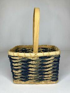 Basket Blue & Natural Beige Country Cottage