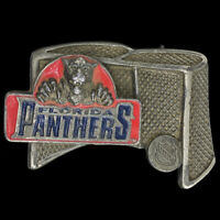 NHL Pewter Belt Buckle Colorado Avalanche built in bottle opener NEW MADE IN USA