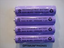 BT Advanced 1Z Telephone Replacement - 4x 1.2V 1800 mAh RECHARGEABLE BATTERIES