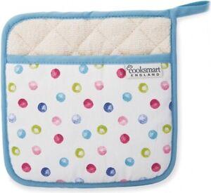 NEW Cooksmart Spotty Dotty Pot Holder Oven Mitt Glove Trivet Heat Protection