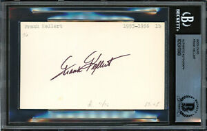 Frank Kellert Autographed Signed 3x5 Index Card Dodgers Beckett 12410509