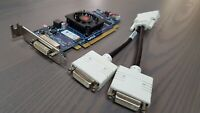Lot 10 AMD Radeon HD 6350 512MB Low Profile DMS-59 Video Card w/Dual DVI Cable