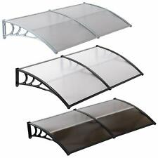 "80""x40""/40""x30""Window Awning Outdoor Polycarbonate Front Door Patio Cover Canopy"