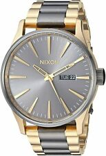 Nixon Men's Sentry SS A356595-00 42mm Gray Dial Stainless steel Watch