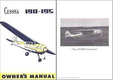 Cessna 190 195 Businessliner Historic Aircraft Manual 1940's RARE archive