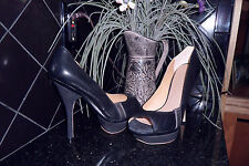 L.A.M.B LAMB GALE BLACK PEEP TOE PLATFORM HEELS PUMPS SHOES by Gwen Stefani 9.5