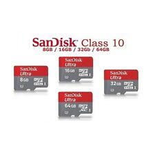 SanDisk Ultra 64GB Class10 micro SD SDXC 80 Mb/s Memory Card with adapter,NEW
