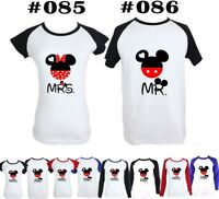 Disney Mr Mickey Mrs Minnie Mouse Couples T-Shirt Men's Women's Graphic Tee Tops