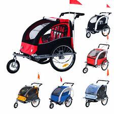 Kinderanhänger Fahrradanhänger 2 in 1 Jogger Radanhänger 360° Drehbar 5 Farben