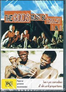 THE GODS MUST BE CRAZY I & II (1 and 2) NEW Region 4 Australian RARE Comedy