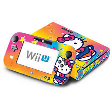 Skin Decal Cover for Nintendo Wii U Console & GamePad - Cute Kitty Rainbow