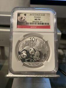 2013 China Silver Panda - Graded NGC MS70