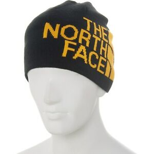The North Face Navy/Yellow Reversible Banner Beanie Mens size O/S