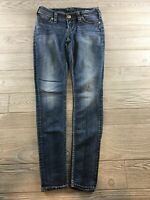 Silver Jeans Women's 27/31 Suki Mid Rise Super Skinny Denim Jeans Dark Wash