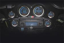 KOSO 2006-2013 Harley-Davidson FLHX Street Glide DIGITAL GAUGE CLUSTER SIL BEZEL