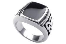 Schmuck Herren-Ring, Edelstahl, Irischen Dreiecksknoten Trinity Keltisch Knot KD