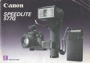 Canon Speedlite 577G Instruction Manual Original