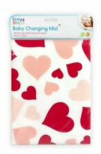 Cute Baby Travel Changing Mat - Pink & Red Hearts