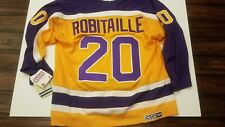 LUC ROBITAILLE LOS ANGELES KINGS CCM VINTAGE 1986 ROOKIE SEASON JERSEY NEW XXL
