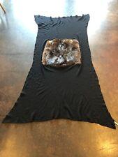 Black Beaver Scarf CovFurs Faux Fur
