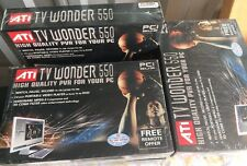 ATI TV Wonder 550 Lot Of 5 New Sealed In Boxes