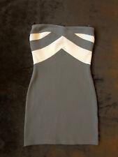 Ladies Bodycon Strapless Dress Size 8 Topshop White Grey Bandage