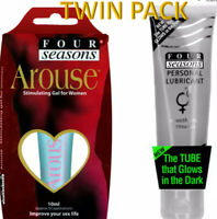 FOUR SEASONS GLOW LUBE TUBE SEX LUBRICANT & AROUSE STIMULATING GEL TOYS SAFE