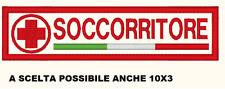 PATCH TOPPA CROCE ROSSA SOCCORRITORE TRICOLORE 12 x 3 cm toppa ricamata ricamo